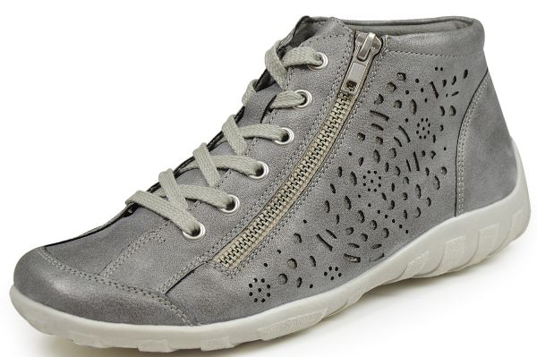 Remonte R3463-40 Damen High Top Sneaker grau (grey/antique)