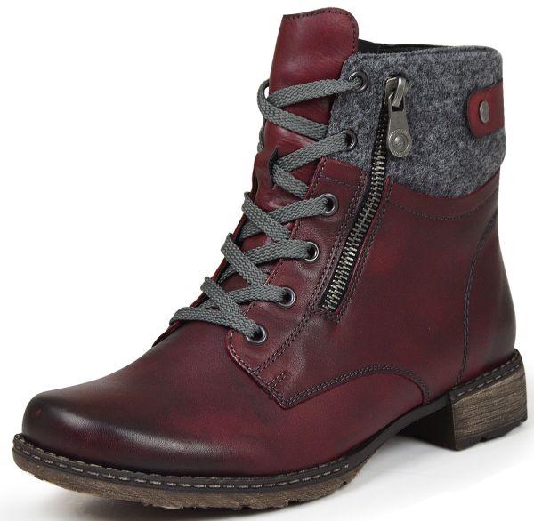 Remonte D4379-35 Damen Combat Boots rot