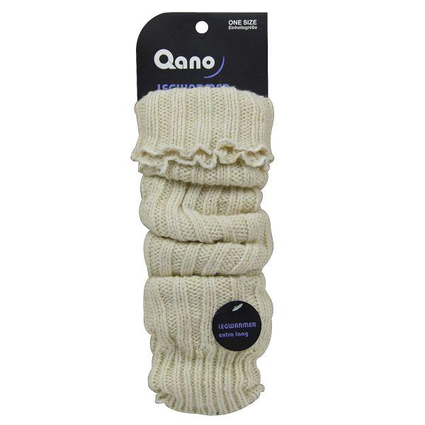 Qano 6010 Damen Stulpen wollweiß
