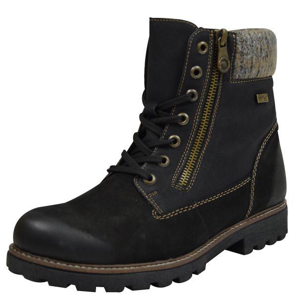 Remonte D7486 Damen Combat Boots schwarz kombi
