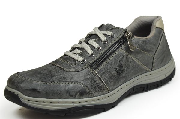 Rieker 16300-46 Herren Sneaker grau