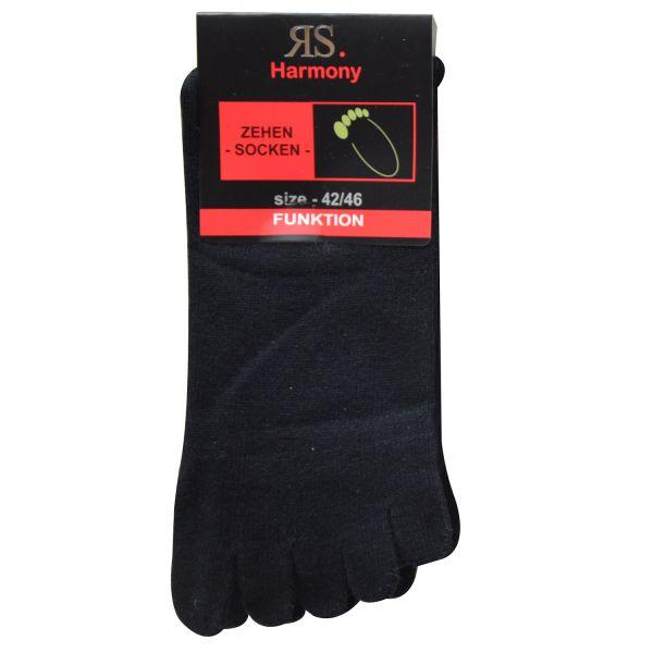 Riese 55516 4 Paar unisex Zehensocken schwarz